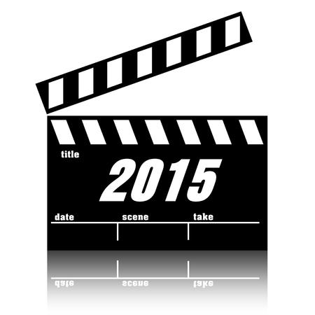 Clapperboard cinema films or movies premieres 2015.