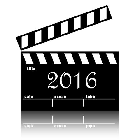 Clapperboard cinema films or movies 2016