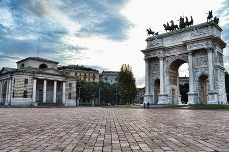 Porta Sempione  is a city gate of Milan, Italy. The name Porta Sempione is used both to refer to the gate proper and to the surrounding district (quartiere), a part of the Zone 1 division (the historic city centre), including the major avenue of Corso