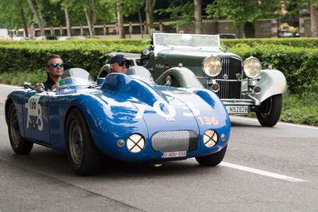 MONZA, ITALY - MAY 19 : old racing car in rally