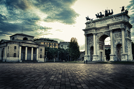Arch of Peace (Arco della Pace) in Milan, Italy.