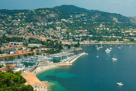 Panoramic View of Villefranche sur Mer, France