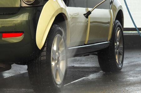 Car wash on a cleaning station Stock Photo - 6576201