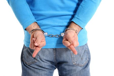 Men with handcuffs making Stock Photo - 7053019