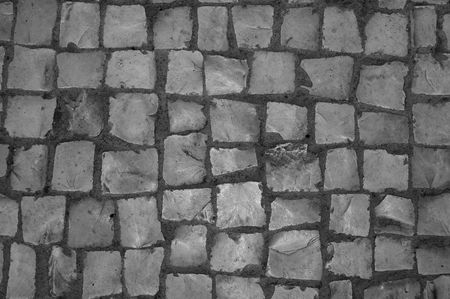 hand made pavement.  photo