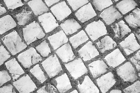 hand made pavement.  photo