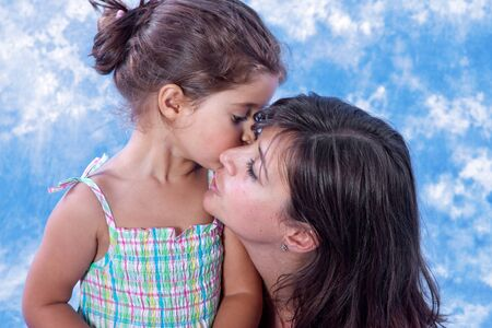 mother and daughter play on studio Stock Photo - 7585963