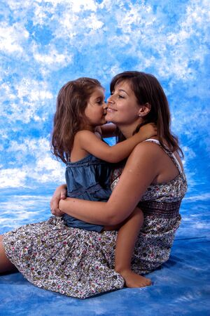mother and daughter play on studio Stock Photo - 7626063