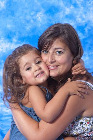 mother and daughter play on studio Stock Photo - 7626059
