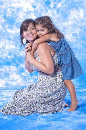 mother and daughter play on studio Stock Photo - 7626056