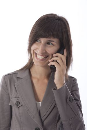 This photo shows a business woman talking on the phone. Stock Photo - 7754287
