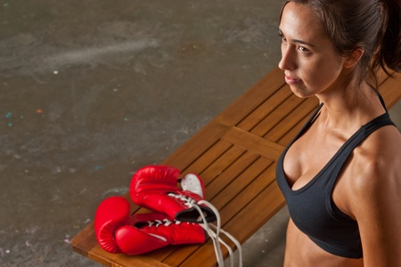 Girl training body combat photo