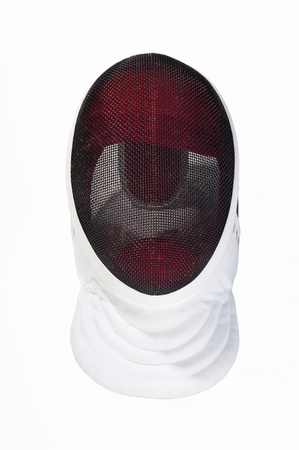 fencing mask in white background Stock Photo