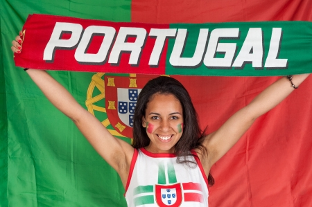 Portugal soccer fan photo