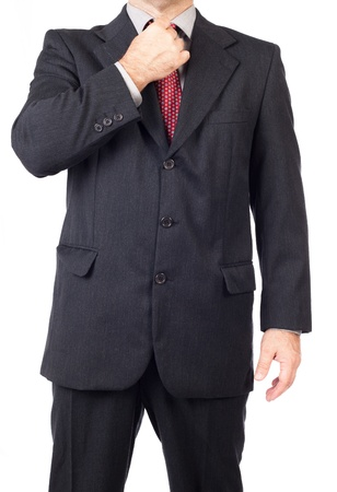 Business man adjusting tie, Business man style  Stock Photo
