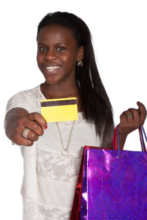 sexy woman with shoping bags photo