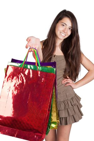 sexy woman with shoping bags Stock Photo - 16305378