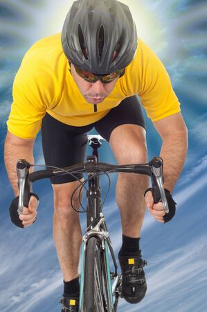 road cyclist Stock Photo