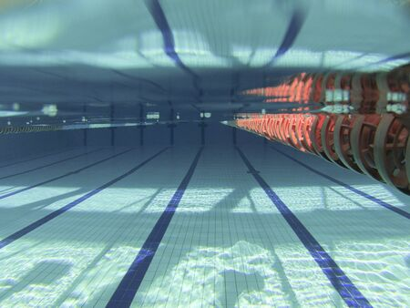 Underwater competition swimming pool image