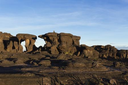 Rock formations, Mount Roraima, Canaima National Park. Imagens
