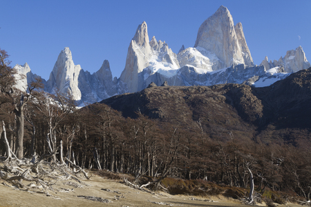 Mountain Fitz Roy in Patagonia (Argentina). Imagens