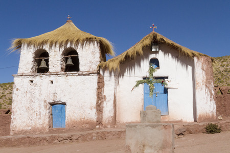 Church in the Atacama Desert, San Pedro de Atacama, Chile. Imagens
