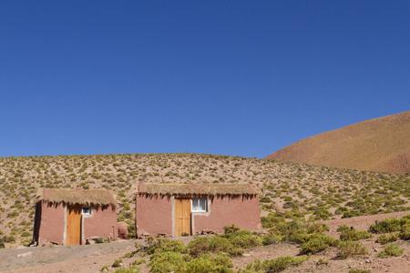 Simple house in Atacama Desert. Imagens