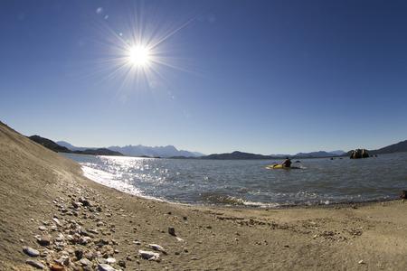 The beach, landscape.