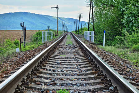 distance: railroad tracks are lost in the distance