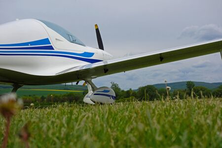 middlesex: Small sport aircraft at the airport