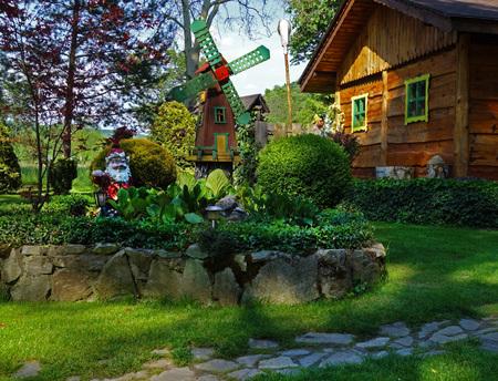 Gartenhaus, Garten und Steingarten Dekoration
