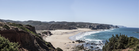 A Panoramic Coastline in Portugal.