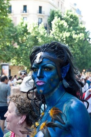 MADRID, ESPAGNE - 3 juillet: les participants non identifiés dans la célébration de la Gay Pride le 3 Juillet 2010 à Madrid, Espagne. Banque d'images - 11379730