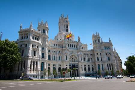plaza: Madrid Town Hall, in Cibeles Square