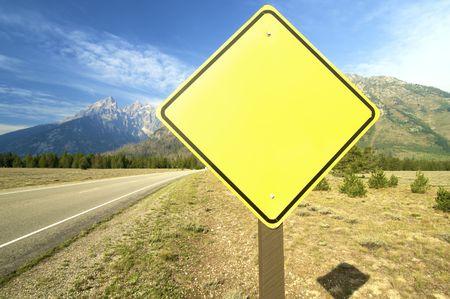 Signal in Grand Teton National Park; Wyoming; Usa photo