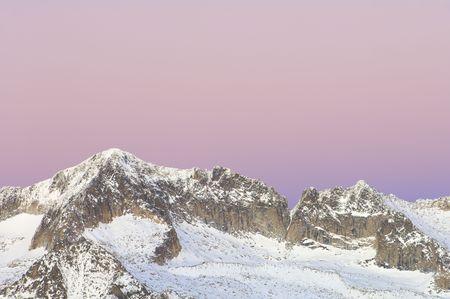 Sunset in Maladeta mountains, Pyrenees, Spain Stock Photo - 5871849