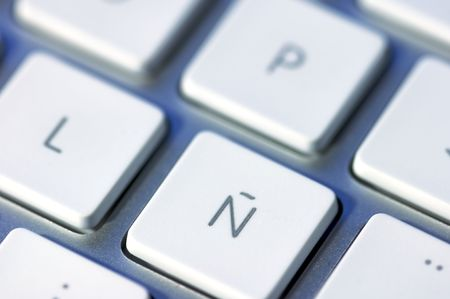 Letter n on a keyboard special character of the spanish language letter n on a keyboard special character of the spanish language stock photo 5871826 spiritdancerdesigns Images