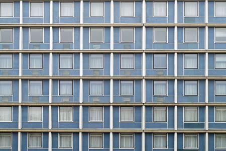 symmetrical facade windows photo