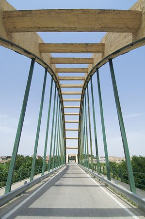 concrete suspension bridge in Spain Stock Photo - 5884795