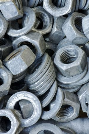 group of nuts and washers photo