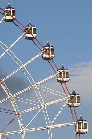 gorky: noria booths with blue sky in Moscow