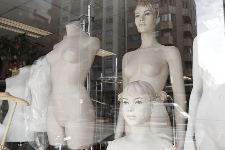 mannequin dummies in a showcase photo