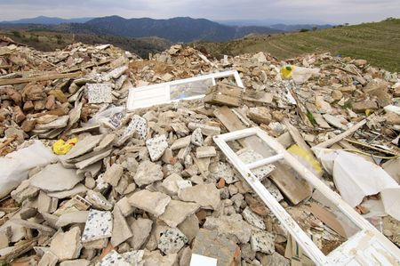 landfill: landfill in a nature place