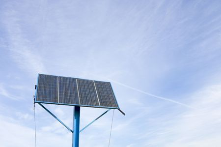 photovoltaic panel with cloudy sky Stock Photo - 5940271