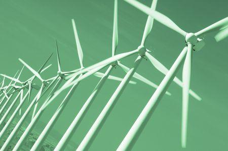 windfarm: cadas de instalaciones en verde monocrom�tica