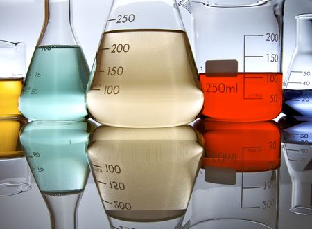 several glassware with color liquid Stock Photo - 5968559