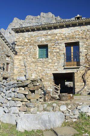 stone rural house in Pyrenees photo