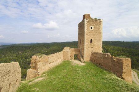 edificación: Torre de San Crist�bal en Daroca, Espa�a  Foto de archivo