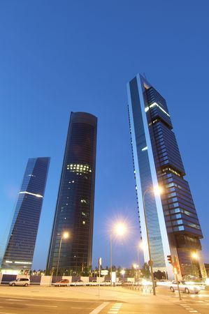 skyscrapers at dusk in the city of madrid Stock Photo - 5983349