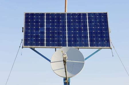 photovoltaic panel: small photovoltaic panel and satellite communication